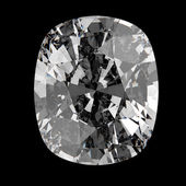 Oval cut diamond, isolated on dark background  — Stock Photo