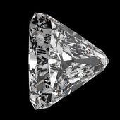 3d triangle cut diamond on dark background — Stock Photo