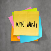 Win win words on crumpled sticky note paper as concept — Stock Photo