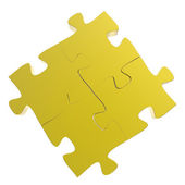 3d puzzles partnership as concept  — Stock Photo