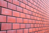 Line from the red brick wall — Stock Photo