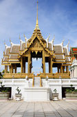 Golden Aphornphimok Pavilion inside Royal Grand Palace Bangkok, — Stock Photo