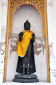 Black Buddha standing statue, Thailand — Stock Photo