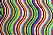 Colorful cloth with curves pattern — Stock Photo