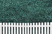 White fence texture — Stock Photo