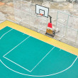 Basket ball court outdoor, street basketball — Stock Photo
