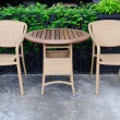 Out door rattans tables and chairs set. — Foto Stock
