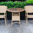 Out door rattans tables and chairs set. — Stock Photo