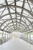 Walk way and steel roof, entrance to department stores, Thailand — Stock Photo