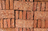 New red brick pile prepare for construction. — Stockfoto