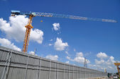 Construction-area with blue-sky — Stock Photo