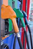 Gasoline nozzles figure — Stock Photo