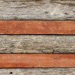 Layers of wall made by wood. — Stock Photo