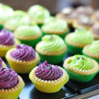 Colorful tarts selling — Stock Photo
