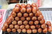Thai Northeast sausages — Stock Photo