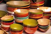 Drewniane miski — Zdjęcie stockowe