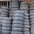 Many used tires — Stock Photo
