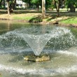Small fountain floating on lake — Stock Photo #37799041