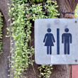 Women and men toilet sign — Stock Photo