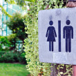 Stock Photo: Women and men toilet sign