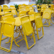 Yellow steel table sets with folding chairs. — Foto de Stock   #38317681