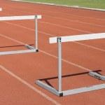 Many hurdle races on race tracks. — Stockfoto