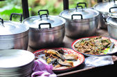 Various Thai foods for lunch — Stock Photo