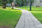 Walk way through public park. — Stock Photo