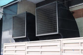Twin square air-ventilation of building. — Stok fotoğraf