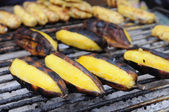 Roasted bananas plantain — Stock Photo