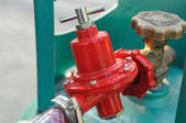 Gas-valve connected with tank — Foto Stock