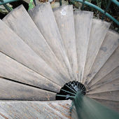 Wooden staircases in old house — Stock Photo