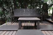 木制的桌椅套 — 图库照片