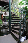Front of winder stair in garden — Stock Photo