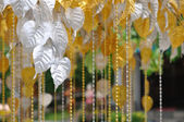 Silver and gold Bodhi Tree — Stock Photo