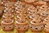 Grupa gliny garncarzy — Zdjęcie stockowe