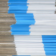 Stack of Blue and white paper boxes — Stock Photo #47645951