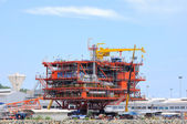 Oil rig on ground — Stock Photo