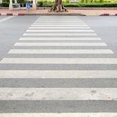 Crosswalk on road — Stock Photo