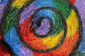 Straw painting swirl — Foto de Stock