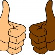 Stock Vector: Thumbs up
