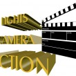 Lights camera action - Stock Vector