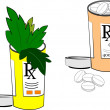 Stock Vector: Narcotics and meds