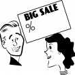 Stock Vector: Big sale on and wife loves it