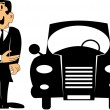 Car salesman — Stock Vector