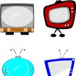 Royalty-Free Stock Vector Image: Retro style televisions