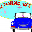 Fab 50's over white — Vector de stock #17615941