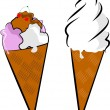 Ice cream cones - Grafika wektorowa