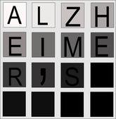 Alzheimers concept — Stock Vector