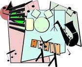 Jazz ensemble in retro style — Stock Vector